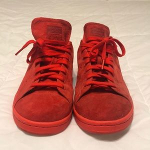 Red Seude Stan Smith Adidas size 11